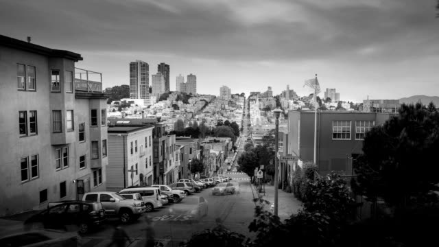 San Francisco View in Black & White video