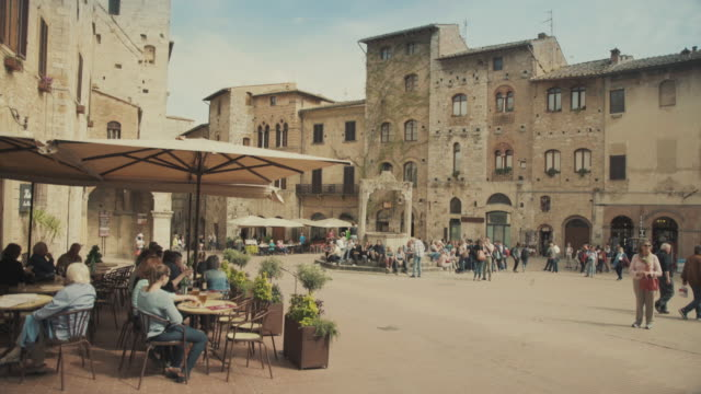 san gimignano, tuscany, in italy - italian architecture stock videos & royalty-free footage