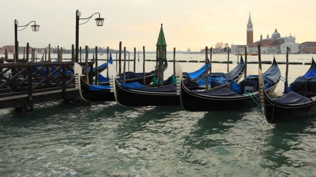 San Giorgio Maggiore Church and Gondolas From St. Mark Square, Venice, Italy video
