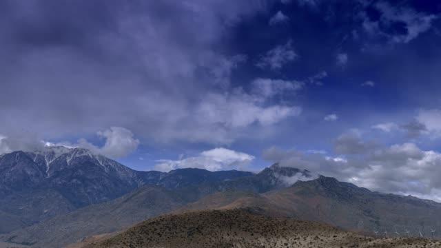 san jacinto storm clouds - brent video stock e b–roll