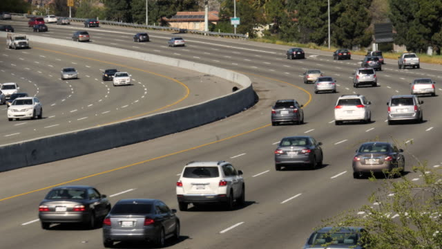 San Jose Highway traffic 4k video