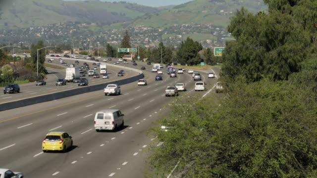 San Jose Highway traffic timelapse 4k video