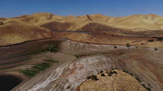 San Luis Reservoir Low Water Levels During Drought