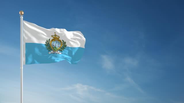 4 K San Marino Flagge-Endlos wiederholbar – Video