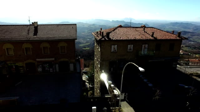 San Marino,roof view sunny day 28 February 2017 video
