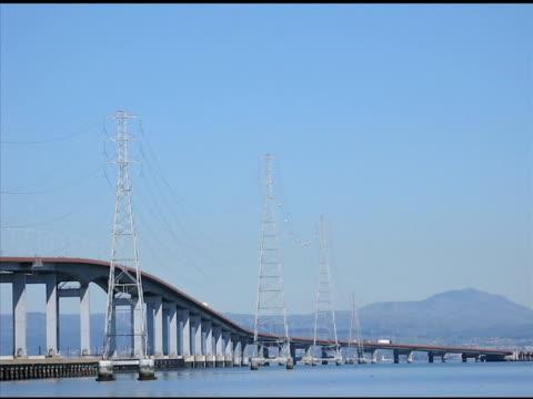 San Mateo Bridge, San Mateo, California video