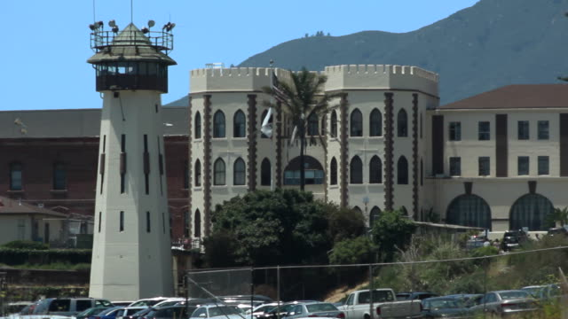 San Quentin State Prison Three shots of San Quentin State Prison. San Quentin State Prison is on the shore of San Francisco Bay in Marin County, California. sentencing stock videos & royalty-free footage