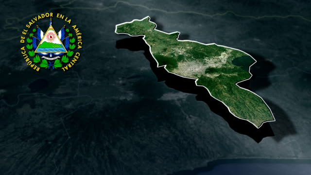 San Salvador with Coat Of Arms Animation Map