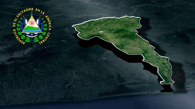 San Vicente with Coat Of Arms Animation Map