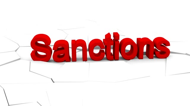 Sanction for concept design. Business deal. Business crisis concept. Trade war concept. Financial crisis. America countries. Conflict sign crisis. Nuclear US and Iran 4k