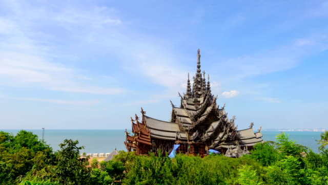 sanctuary of truth sanctuary of truth pattaya stock videos & royalty-free footage