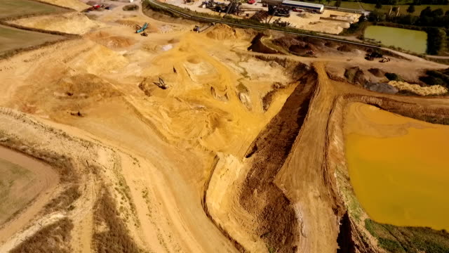 Sand and gravel quarry video