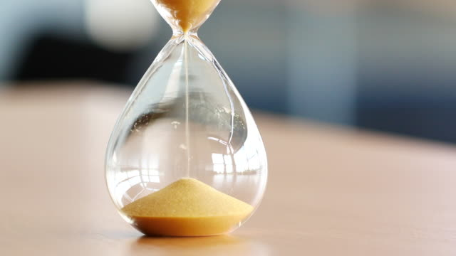 4K Sand clock, business time management concept video