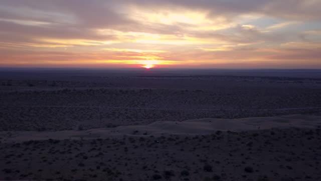 Sand desert, sunset. Landscape, India