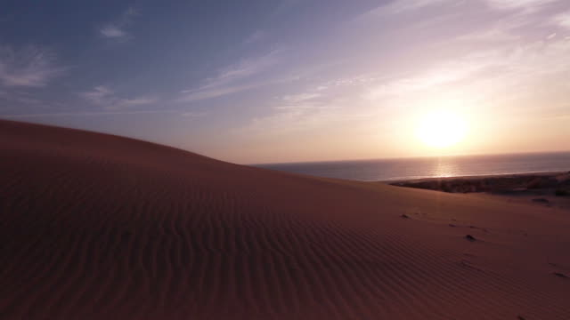 Sand Desert with sunset video