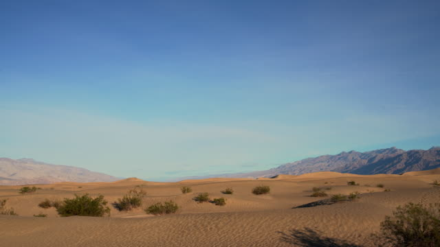 Sand dunes at Mesquite Flats, Death Valley, California. - vídeo
