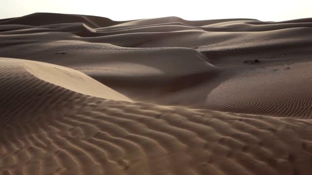 Sand dunes in Oman video