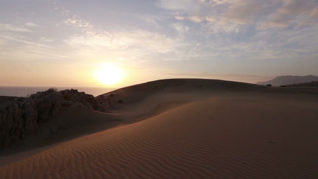 Sand dunes in patara desert video