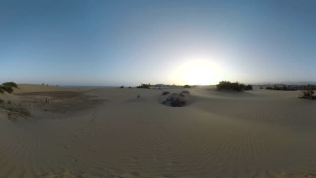 Sand dunes of Gran Canaria at sunset video