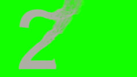 conto alla rovescia polvere di sabbia cinque su 4k verde - due persone video stock e b–roll