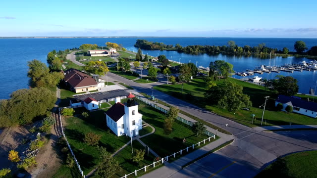 Sand Point Lighthouse Escanaba Michigan video