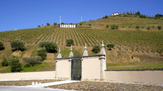 Sandeman douro wine vineyard entrance, in Portugal