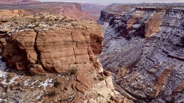 sandstein-canyon des colorado river in der nähe von moab utah - grand canyon stock-videos und b-roll-filmmaterial