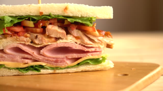 sandwich sandwich red onions stock videos & royalty-free footage