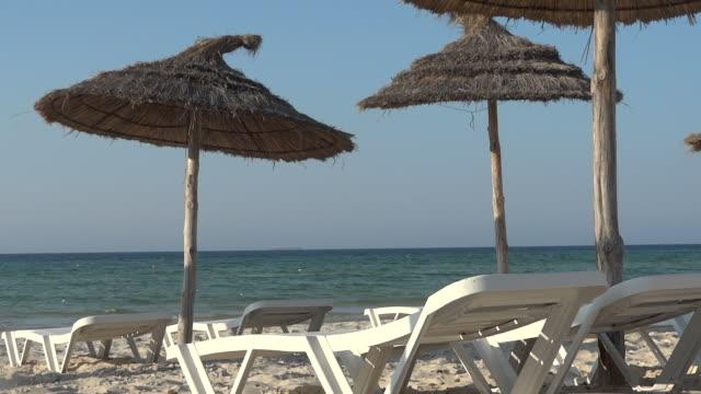 sandy beach of Tunisia