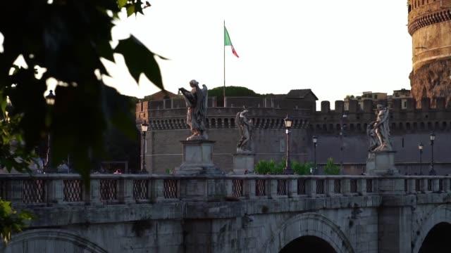 sant angelo-bron, vatikanen, rom, italien. - påve bildbanksvideor och videomaterial från bakom kulisserna