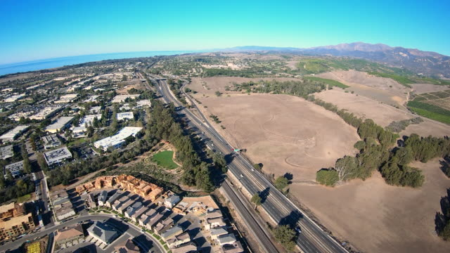 Santa Barbara California Aerial Hyperlapse Flying Northbound video