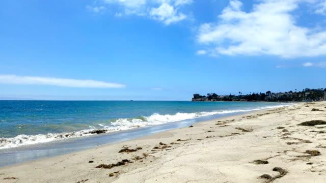 Santa Barbara California beach on a beautiful sunny day video