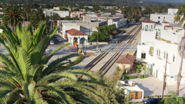 Santa Barbara Train Station - Drone Shot video