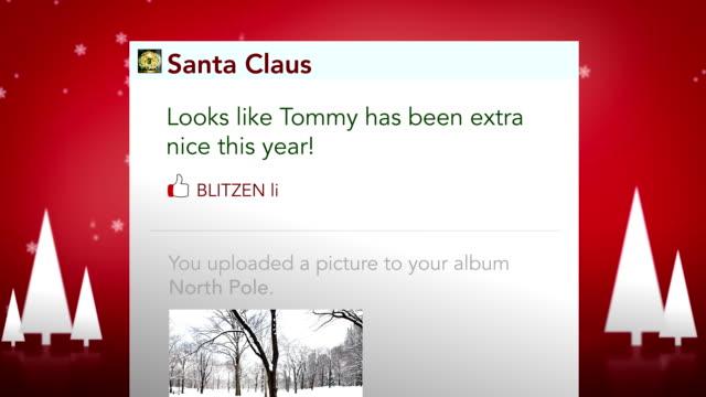 Santa Checks updates his status video