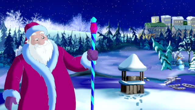 Santa Claus Blowing Cold Wind video