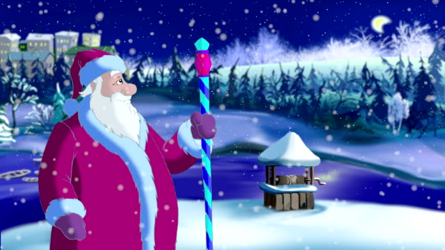 Santa Claus Blowing Snow video