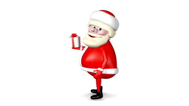 Santa Claus Carries Gift video