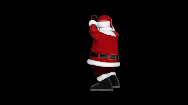 vidéos et rushes de santa claus celebrating, alpha png, boucle transparente - saint nicolas