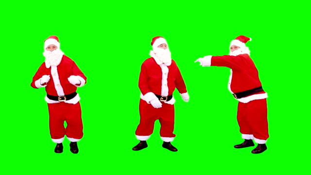 Santa Claus dancing. Green Screen. 3 videos in 1 file. Santa is dancing over green screen, full HD. Animation created exclusively for iStockphoto. rock music stock videos & royalty-free footage