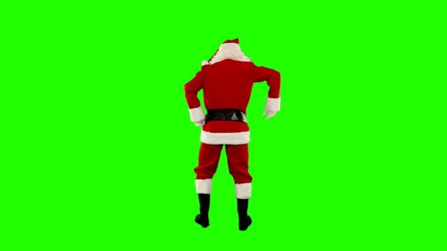 Santa Claus Dancing isolated, Dance 6, Green Screen video