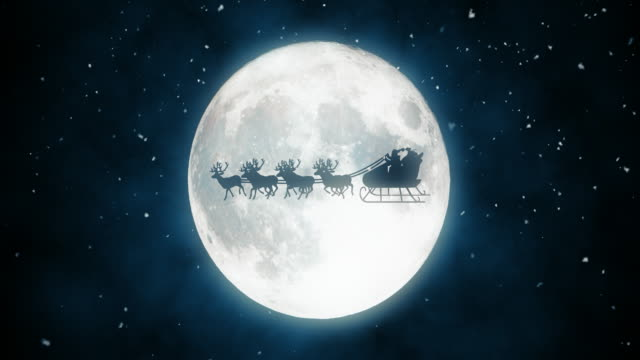 santa claus flying - reindeer stock videos and b-roll footage
