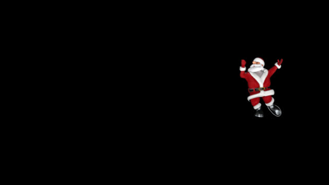 vidéos et rushes de danse drôle de santa claus, alpha png - saint nicolas