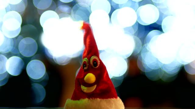 santa claus hat christmas tree night christmas lights stock video more clips of 4k resolution 880515336 istock