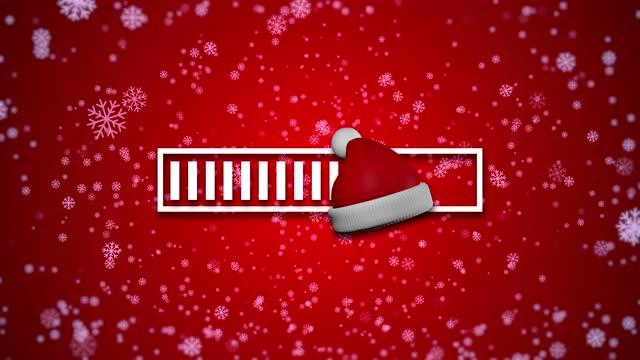 vídeos y material grabado en eventos de stock de santa claus sombrero de carga barra de carga de trabajo de nieve animación 3d - christmas stocking