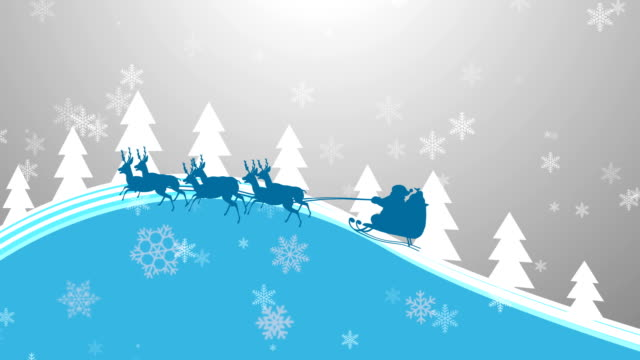 Santa Claus in Snow Flakes background