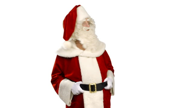 Santa Claus is Presenting and Nodding - Thump Up