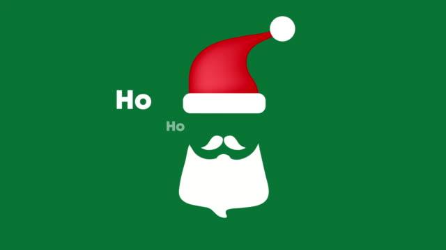 サンタクロースメリークリスマスモーションホーホー4kビデオ - サンタの帽子点の映像素材/bロール