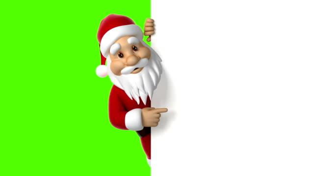 santa claus punkte auf dem bildschirm - weihnachtsmann stock-videos und b-roll-filmmaterial