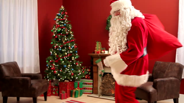 Santa Claus sneaking into home video