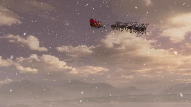 santa claus - reindeer stock videos and b-roll footage